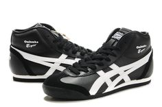Onitsuka Tiger Mexico 66 Mid Runner Shoes Black White