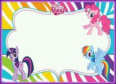 Little Pony Birthday Party, My Little Pony Party, Girl Birthday, Happy Birthday, My Little Pony Invitations, Birthday Invitations, Unicorn Cupcakes, Unicorn Party, Diy Party Frame