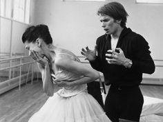 Rudolf Khametovich Nureyev and Margot Fonteyn Rehearsing Marguerite and Armand, England