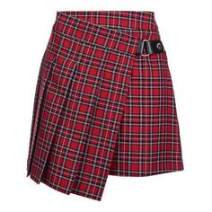 TopShop Punky Check Kilt Style Skirt (1.482.910 VND) ❤ liked on Polyvore featuring skirts, topshop, checkerboard skirt, punk rock skirts, tartan plaid skirt, purple skirt and punk skirt