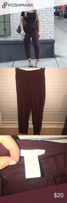 Dress pants Dark red, worn once on this picture Pants Trousers