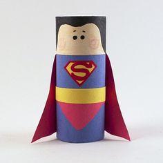 Cardboard Tube Superman - Fun Family Crafts
