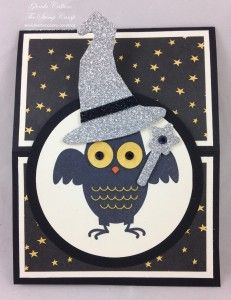 Stampin' Up! Howl-o-ween Treat Easel card www.thestampcamp.com
