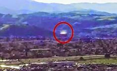Drone Video Capture a UFO on the California ( Silicon Valley )