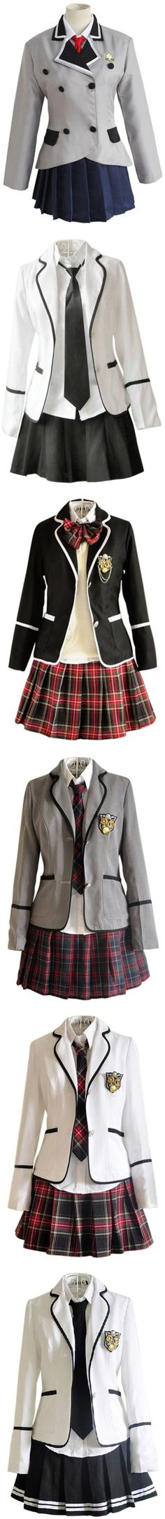 School Uniform by bubble-loves-you on Polyvore featuring cosplay, costumes, dresses, extras, outfits, uniforms, other and costume