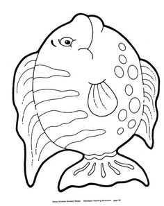 Fish coloring page Fish Coloring Page, Bible Coloring Pages, Colouring Pics, Animal Coloring Pages, Easy Fish Drawing, Under The Sea Crafts, Easy Art For Kids, Bridal Shower Scrapbook, Fish Quilt