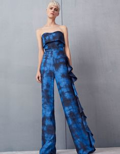 977c336bb51e Alexis Jara Strapless Jumpsuit in Blue Dye