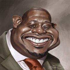 """CARICATURAS DE FAMOSOS: """"Forest Whitaker"""" por Jaume Cullell"""