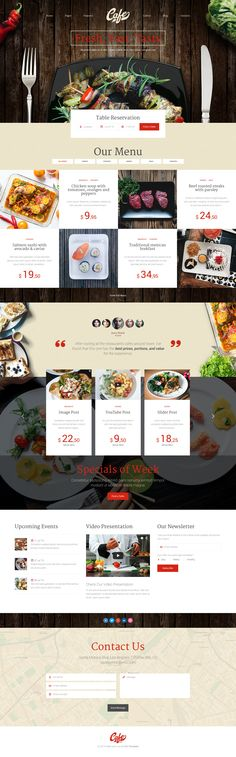 Cafe Art is modern, clean and professionally crafted PSD template which can be used for cafe, restaurant, fast food, bar and any other website related with food and drinks. It also can be used for ...