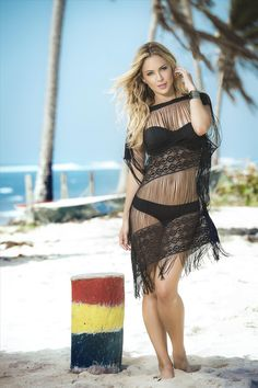 d36fec41a8e66 Sexy and Stringy Black Fringed Cover-up Beach Dress - SoHot Swimwear - Cover -