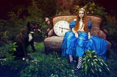 Alice with the dog by Voodica.deviantart.com on @deviantART
