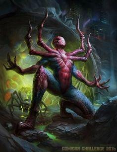 ArtStation - spider man by Veronika Kozlova spiderman fanart art arte Marvel And Dc Superheroes, Marvel Comics Art, Marvel Heroes, Marvel Characters, Spiderman Art, Amazing Spiderman, Fantasy Creatures, Mythical Creatures, Comic Books Art