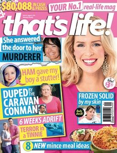 that's life - 8 August 2013 #magazines #magsmoveme  http://www.thatslife.com.au/