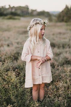 RYLEE + CRU BUTTON SHIRT DRESS / BLUSH