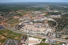 San Angelo Ariel view. Note Sunset Mall in the foreground and Lake O C Fisher near the top of the photo. Photo probably taken about 2001 since very little development is shown on the Houston Harte Expressway.