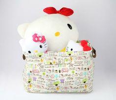 Hello Kitty Folding Basket: Comfortable Life #HelloKitty #Pulsh #FoldingBasket