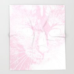 pale pink and white drawing from my photo of our outdoor cat, Fluffy. soft and somewhat mysterious. one of a series in different colors, each with it's own emotional impact.