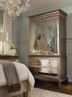 Mirror armoire- Cute to use as a baby changing station,  also the mirror makes it appear larger.