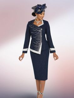 a462c203480 Style 48204 from Ben Marc is a two piece ladies  knit church suit that has. French  Novelty
