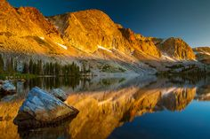 Wow! What a sunrise in the Snowy Range in southern Wyoming at Lake Marie. #Nature #Photography #Sunrise