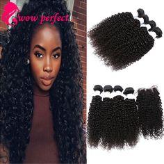 7a brazilian virgin hair with closure kinky curly virgin hair with closure 4 bundles with lace closure human hair with closure