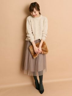 ROSSOグランツリー武蔵小杉店 | kawanoスカート「ROSSO ROSSO チュールプリーツスカート」Styling looks