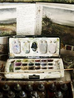 Творческий процесс, или Художник за работой. Amanda Hoskin - Ярмарка Мастеров - ручная работа, handmade