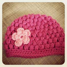 Puff stitch hat ~ made by VanSjoukje ~ baby ~ meisje ~ mutsje ~ haken ~ crochet ~ girl