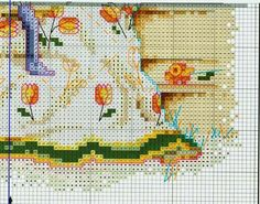 """""""Delightful Daffodils ~ Quilts From The Garden"""" a cross stitch design by Paula Vaughan.  Saved from gabka.gallery.ru  ---  I finally found this missing piece of this pattern!!!"""