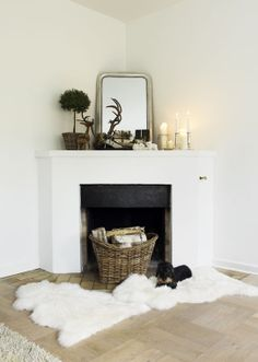 simple fireplace - might be nice for a bedroom