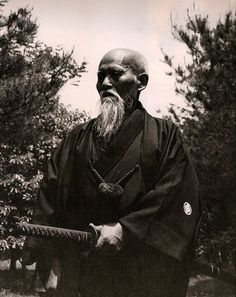 """The Art of Peace is not easy. It is a fight to the finish, the slaying of evil desires and all falsehood within. On occasion the Voice of Peace resounds like thunder, jolting human beings out of their stupor."" - Morihei Ueshiba"