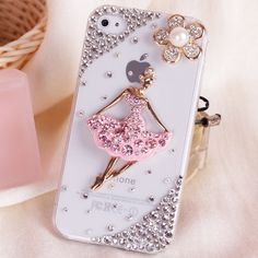 For Mobile Phone Sparkly Crystals Rhinestones Bling Lovely Floral Gem Cover for iPhone 7 7Plus 6S Plus 6Plus 6 6S 5 5S 5C SE 4S