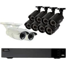 Q-SEE Video Surveillance System with 8 Bullet Cameras and 2 Auto-Zoom Bullet - The Home Depot Wireless Home Security Systems, Security Alarm, Security Camera, Storage Shed Kits, Best Home Security, House Security, Best Barns, Bullet Camera, Surveillance System