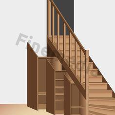Plan de placard à rangement sous escalier