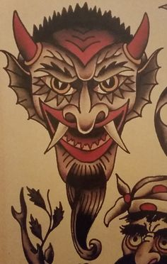 Traditional/old school tattoo, sailor jerry, devil, demon, nautical