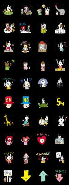 #うさぎ #rabbit #cat Rabbit, Illustrations, Cats, Bunny, Rabbits, Gatos, Bunnies, Illustration, Cat