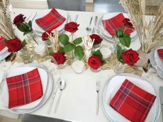 Red and White DIY Table Runner