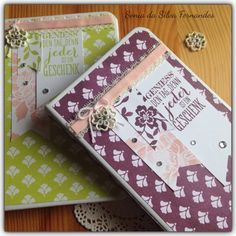 Sonia's Creation: Notizblöcke - Mit Stampin Up! Florale Eleganz - #G...