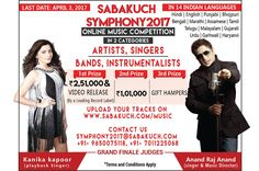 It's time to show your music talent in musical event Sabakuch Symphony 2017. Name and fame waiting for you. Hurry up to grab a golden chance to make your dream comes true. Register now. https://sabakuch.com/music/event