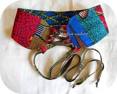 African Patchwork Corset Belt One of a Kind art by BarefootModiste African Lace, African Wear, African Fabric, African Dress, African Inspired Fashion, African Print Fashion, Africa Fashion, African Prints, Diy African Jewelry