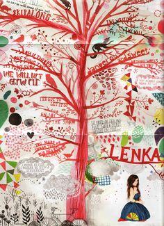 Lenka album cover art by James Gulliver