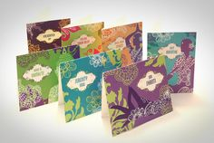 Pack of Seven Cards by SweetMangoShop on Etsy, $16.50