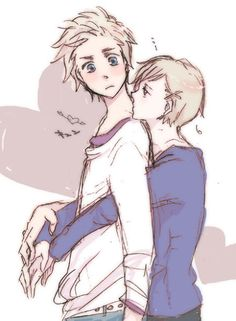 Really cute DenNor picture <3 The feels | Hetalia