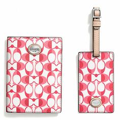 BOXED DREAM C PASSPORT CASE AND LUGGAGE TAG SET Email smilesmore@aol.com to get your invite to the exclusive Coach Factory Online Sales....up to 70% off