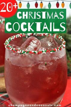 Raise a glass full of Christmas cheer with these Christmas cocktails! These holiday spirits will have you feeling merry and bright in no time. #christmas #cocktails #drinks #christmascocktails #christmasrecipes #holiday #mixeddrinks #holidaydrinks Holiday Sangria, Christmas Cocktails, Holiday Cocktails, Cocktail And Mocktail, Cocktail Recipes, Chocolate Frosty, Holiday Recipes, Christmas Recipes, Punch Recipes