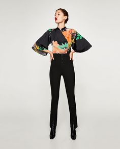 ffd45c698e1 Billede 1 af MØNSTRET BODYSTOCKING MED KINAKRAVE fra Zara Afslappede  Forretningsoutfits, Stempler, Feminin Mode