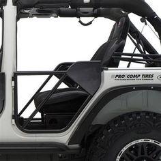 Smittybilt SRC Rear Tube Doors in Textured Black for 07-17 Jeep Wrangler Unlimited JK 4 Door