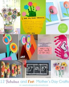 Mother's Day Crafts {Fabulous and Fun} | Lovebugs and Postcards