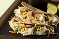 Grilled Fish Tacos with Creamy Coleslaw for Two recipe