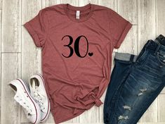 Thirty af bday shirt Thirty shirt birthday gift funny birthday shirt gift for her birthday party shirt dirty thirty Rock this super cute Thirty AF shirt to your bday bash or give it as a gift! This unisex 30th Birthday Outfit, 30th Birthday Shirts, Thirty Birthday, Birthday Gift For Him, Birthday Woman, Funny Birthday, 30th Birthday Ideas For Girls, Funny 30th Birthday, Surprise Birthday